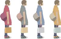 女性(横)1人-色変え
