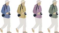 男性カメラ-1人-色変え