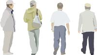 中高年男性(4人) 60006000070  写真素材・ストックフォト・画像・イラスト素材 アマナイメージズ