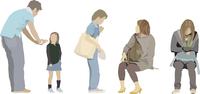 色々男女・子供(5人) 60006000080| 写真素材・ストックフォト・画像・イラスト素材|アマナイメージズ