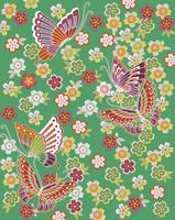 桜に蝶文 60006000095| 写真素材・ストックフォト・画像・イラスト素材|アマナイメージズ