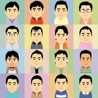 中年男性の集合イラスト