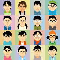若者男性の集合イラスト 60008000215| 写真素材・ストックフォト・画像・イラスト素材|アマナイメージズ