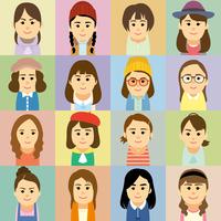 若者女性の集合イラスト 60008000217| 写真素材・ストックフォト・画像・イラスト素材|アマナイメージズ