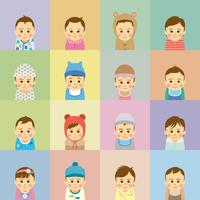 赤ちゃんの集合イラスト 60008000229| 写真素材・ストックフォト・画像・イラスト素材|アマナイメージズ