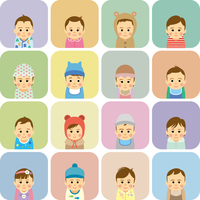 赤ちゃんの集合イラスト 60008000230| 写真素材・ストックフォト・画像・イラスト素材|アマナイメージズ