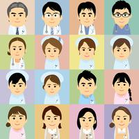 医療機関で働く男女の集合イラスト 60008000237| 写真素材・ストックフォト・画像・イラスト素材|アマナイメージズ