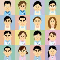 介護施設で働く男女の集合イラスト 60008000239| 写真素材・ストックフォト・画像・イラスト素材|アマナイメージズ