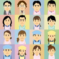 幼稚園と保育園で働く男女の集合イラスト 60008000241| 写真素材・ストックフォト・画像・イラスト素材|アマナイメージズ