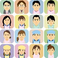 幼稚園と保育園で働く男女の集合イラスト 60008000242| 写真素材・ストックフォト・画像・イラスト素材|アマナイメージズ