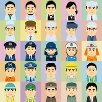 様々な職業で働く男女の集合イラスト 60008000243| 写真素材・ストックフォト・画像・イラスト素材|アマナイメージズ
