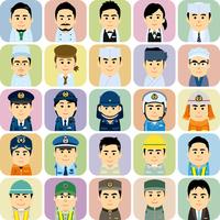様々な職業で働く男女の集合イラスト 60008000244| 写真素材・ストックフォト・画像・イラスト素材|アマナイメージズ