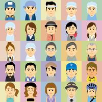 様々な職業で働く男女の集合イラスト 60008000247| 写真素材・ストックフォト・画像・イラスト素材|アマナイメージズ