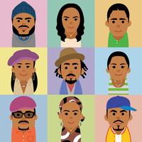 黒人男女の集合イラスト 60008000251| 写真素材・ストックフォト・画像・イラスト素材|アマナイメージズ