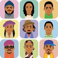黒人男女の集合イラスト 60008000252| 写真素材・ストックフォト・画像・イラスト素材|アマナイメージズ