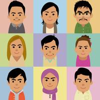 東南アジア人男女の集合イラスト 60008000255| 写真素材・ストックフォト・画像・イラスト素材|アマナイメージズ