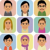 東南アジア人男女の集合イラスト 60008000256| 写真素材・ストックフォト・画像・イラスト素材|アマナイメージズ