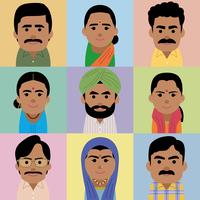 南アジア人男女の集合イラスト 60008000257| 写真素材・ストックフォト・画像・イラスト素材|アマナイメージズ