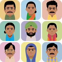 南アジア人男女の集合イラスト 60008000258| 写真素材・ストックフォト・画像・イラスト素材|アマナイメージズ