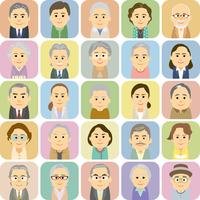 シニアの男女集合イラスト 60008000270| 写真素材・ストックフォト・画像・イラスト素材|アマナイメージズ