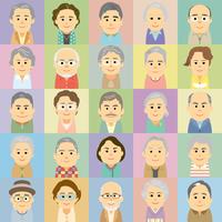 シニアの男女集合イラスト 60008000271| 写真素材・ストックフォト・画像・イラスト素材|アマナイメージズ