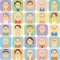 シニアの男女集合イラスト 60008000272| 写真素材・ストックフォト・画像・イラスト素材|アマナイメージズ