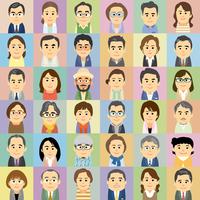 中高年の男女集合イラスト 60008000273| 写真素材・ストックフォト・画像・イラスト素材|アマナイメージズ