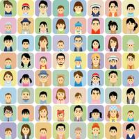 若いファミリーの集合イラスト 60008000284| 写真素材・ストックフォト・画像・イラスト素材|アマナイメージズ
