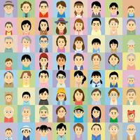 三世代の男女集合イラスト 60008000293| 写真素材・ストックフォト・画像・イラスト素材|アマナイメージズ