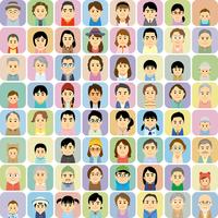 三世代の男女集合イラスト 60008000294| 写真素材・ストックフォト・画像・イラスト素材|アマナイメージズ