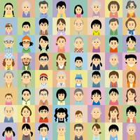 三世代の男女集合イラスト 60008000295| 写真素材・ストックフォト・画像・イラスト素材|アマナイメージズ