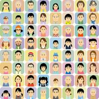 三世代の男女集合イラスト 60008000296| 写真素材・ストックフォト・画像・イラスト素材|アマナイメージズ