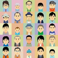 様々な世代の男性集合イラスト 60008000301| 写真素材・ストックフォト・画像・イラスト素材|アマナイメージズ