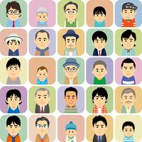 様々な世代の男性集合イラスト 60008000302| 写真素材・ストックフォト・画像・イラスト素材|アマナイメージズ
