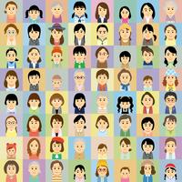 様々な世代の女性集合イラスト 60008000303| 写真素材・ストックフォト・画像・イラスト素材|アマナイメージズ