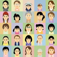 様々な世代の女性集合イラスト 60008000305| 写真素材・ストックフォト・画像・イラスト素材|アマナイメージズ