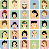 様々な世代の女性集合イラスト 60008000306| 写真素材・ストックフォト・画像・イラスト素材|アマナイメージズ