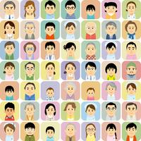 医療機関で働く男女と患者の集合イラスト 60008000308| 写真素材・ストックフォト・画像・イラスト素材|アマナイメージズ