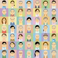 介護施設で働く男女と高齢者の集合イラスト 60008000309| 写真素材・ストックフォト・画像・イラスト素材|アマナイメージズ