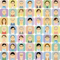介護施設で働く男女と高齢者の集合イラスト 60008000310| 写真素材・ストックフォト・画像・イラスト素材|アマナイメージズ