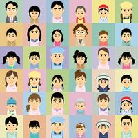 幼稚園保育園で働く人と子供の集合イラスト 60008000311| 写真素材・ストックフォト・画像・イラスト素材|アマナイメージズ