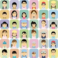 幼稚園保育園で働く人と子供の集合イラスト 60008000312| 写真素材・ストックフォト・画像・イラスト素材|アマナイメージズ