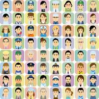 様々な職業で働く男女の集合イラスト 60008000316| 写真素材・ストックフォト・画像・イラスト素材|アマナイメージズ