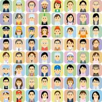 様々な職業で働く男女の集合イラスト 60008000318| 写真素材・ストックフォト・画像・イラスト素材|アマナイメージズ
