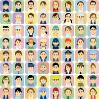 様々な職業で働く男女の集合イラスト 60008000320| 写真素材・ストックフォト・画像・イラスト素材|アマナイメージズ