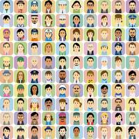 様々な人種の働く男女の集合イラスト 60008000322| 写真素材・ストックフォト・画像・イラスト素材|アマナイメージズ