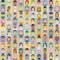 様々な人種の働く男女の集合イラスト 60008000323| 写真素材・ストックフォト・画像・イラスト素材|アマナイメージズ