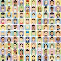 様々な人種の働く男女の集合イラスト 60008000324| 写真素材・ストックフォト・画像・イラスト素材|アマナイメージズ