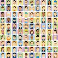 様々な人種の働く男女の集合イラスト 60008000326| 写真素材・ストックフォト・画像・イラスト素材|アマナイメージズ