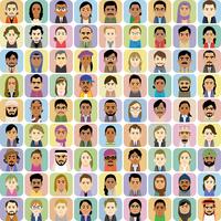 様々な外国人の集合イラスト 60008000328| 写真素材・ストックフォト・画像・イラスト素材|アマナイメージズ